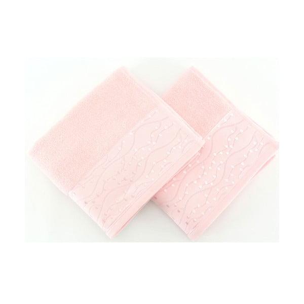Komplet 2 ręczników Tomuruk Pink, 50x90 cm