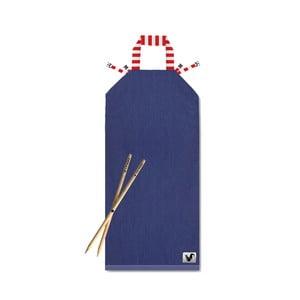 Niebieski leżak plażowy Origama Red Stripes