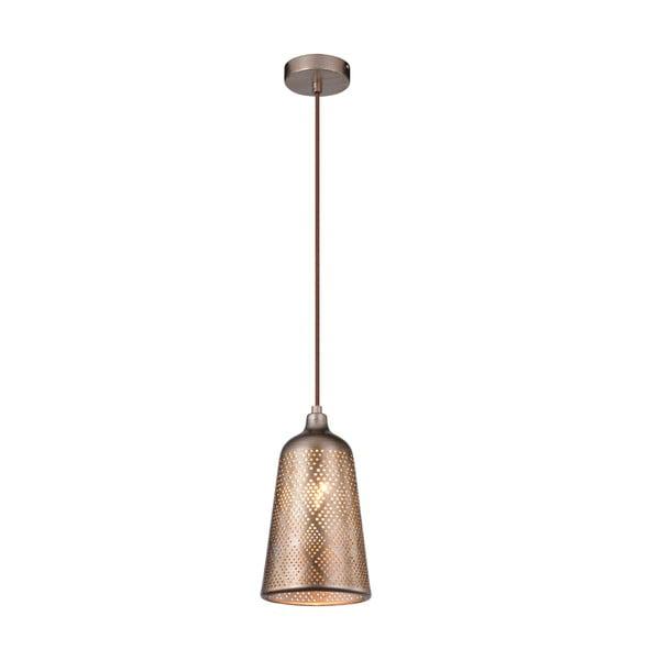 Ażurowa lampa sufitowa Sfinks, jasnobrązowa