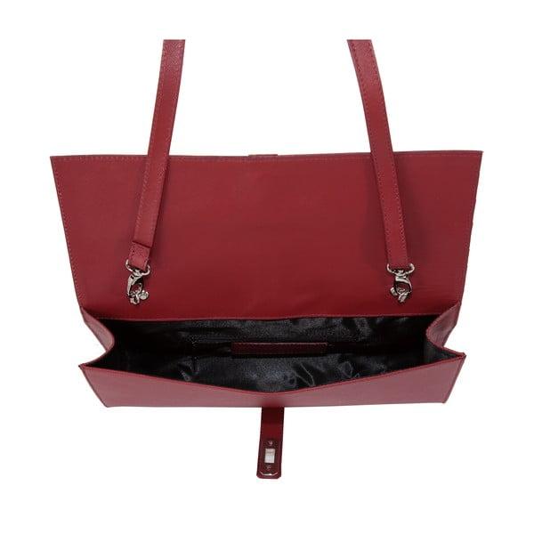 Czerwona torebka skórzana Andrea Cardone Calandra