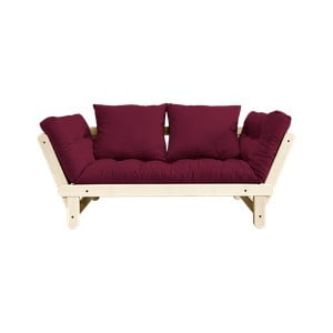 Sofa rozkładana Karup Design Beat Natural/Bordeaux