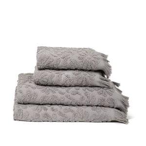 Zestaw 4 ręczników Riad Grey, 50x90 cm + 70x140 cm