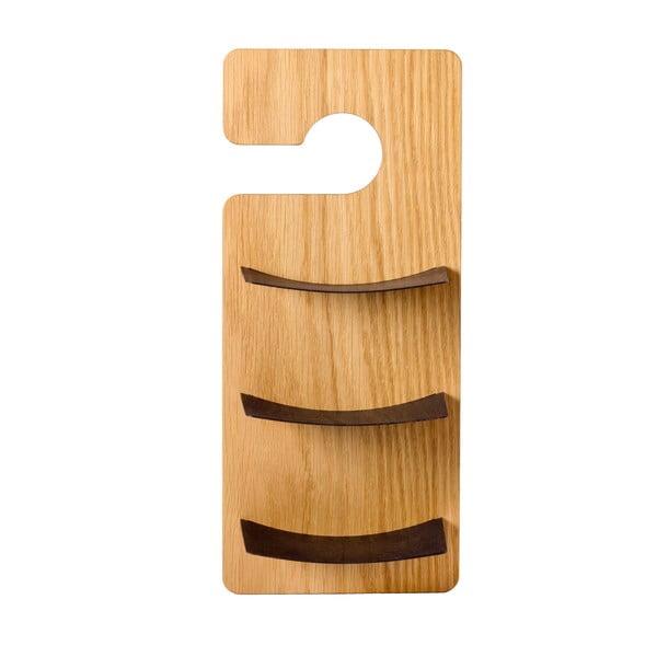 Półka wisząca Smardrobe 34x15 cm, dąb i czerń
