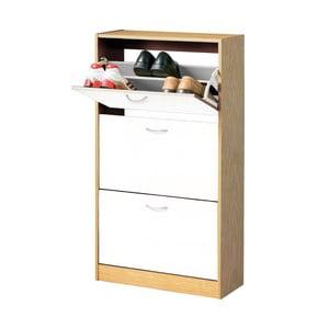 Drewniana szafka na buty z 3 przegródkami Premier Housewares Shoe Cupboard