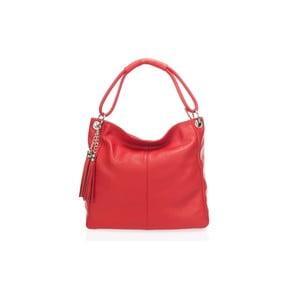 Skórzana torebka Shaan, czerwona