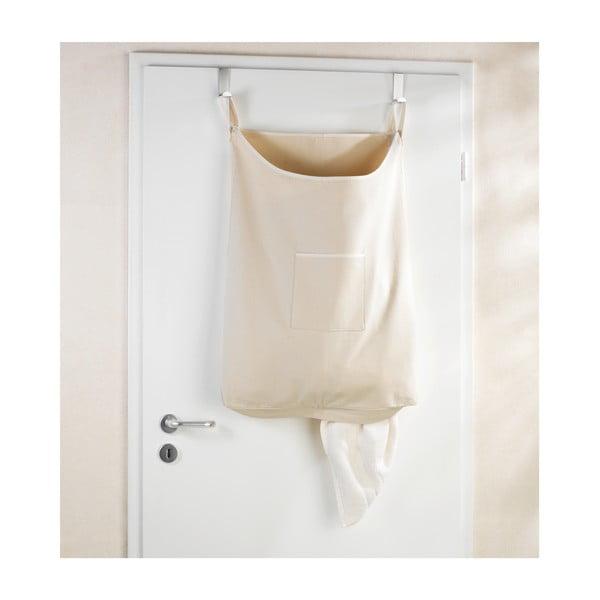 Beżowy wiszący kosz na pranie Wenko Door Laundry, 65 l