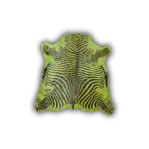 Skóra dekoracyjna Normand Cow Zebra Green, 170x190 cm