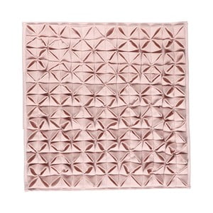 Dywanik łazienkowy Origami 60x60 cm, różowy