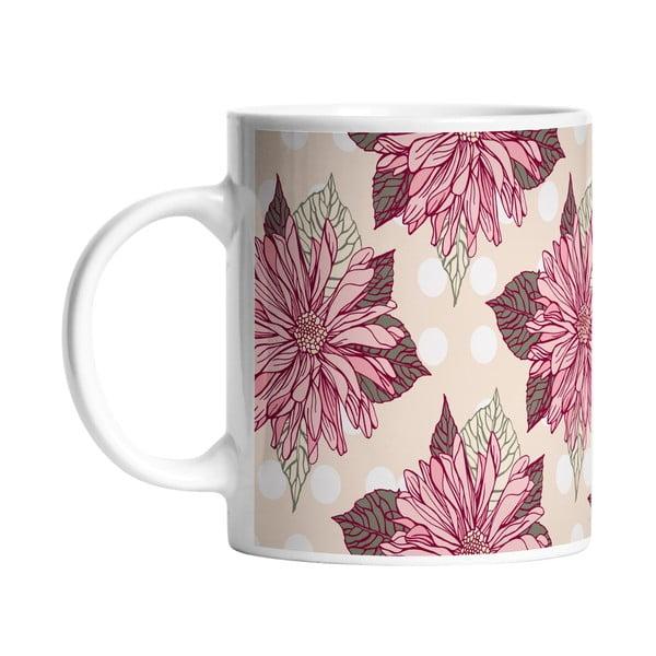 Kubek ceramiczny Dahlia Flower, 330 ml