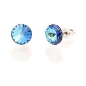 Kolczyki Swarovski Crystals Bermuda Blue, 8 mm