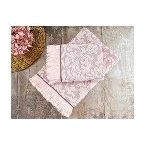 Zestaw 2 fioletowych ręczników Irya Home Royal, 50x90 cm