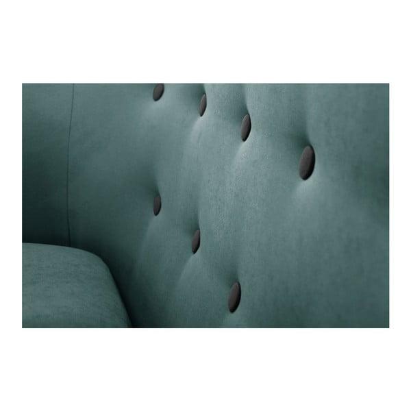 Turkusowa sofa 3-osobowa Scandi by Stella Cadente Maison Constellation