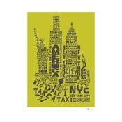 Plakat New York Green&Grey, 50x70 cm
