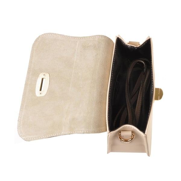 Skórzana torebka Flaux, kremowa