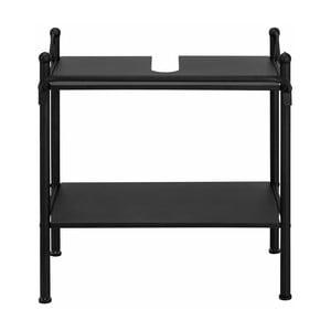 Czarna metalowa półka łazienkowa Støraa Isabelle