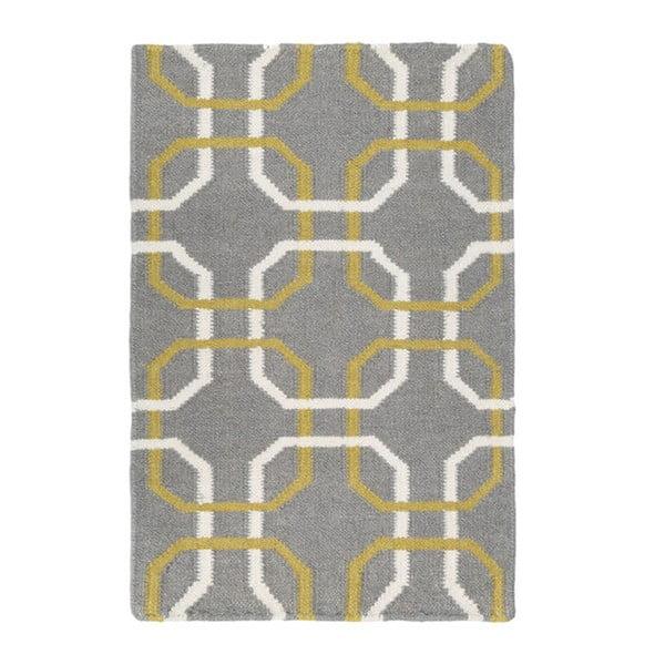 Dywan ręcznie tkany Oslo, 120x180 cm, szary