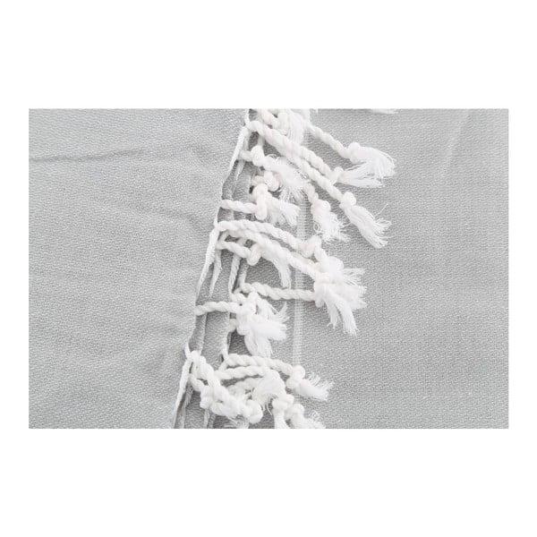 Jasnoszary ręcznik Hammam Sultan, 100x180cm