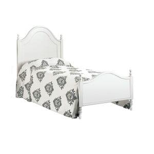Białe łóżko jednoosobowe z drewna Castagnetti Venezia, 90x200cm