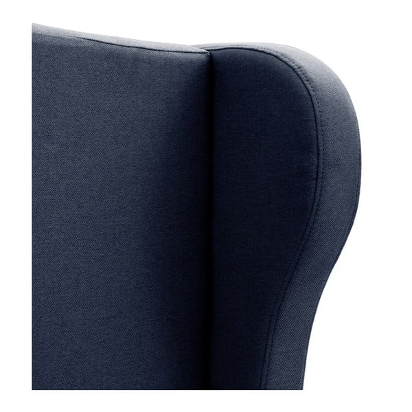 Granatowe łóżko z czarnymi nóżkami Vivonita Windsor, 180x200 cm