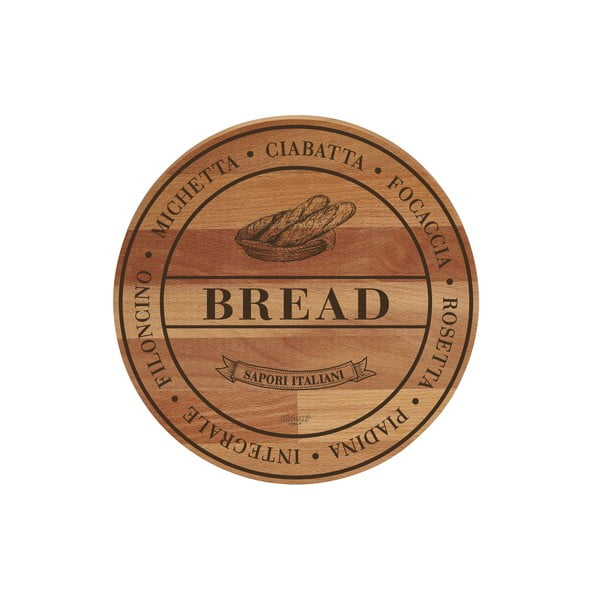 Deska do krojenia z drewna bukowego Bisetti Broad Bread, ø 30 cm