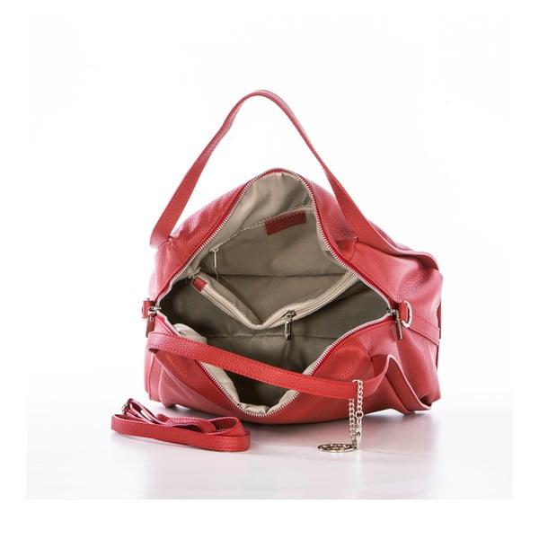 Skórzana torebka Riccardo, czerwona