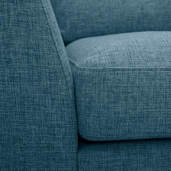 Turkusowa sofa z szezlongiem po lewej stronie Vivonita Monroe