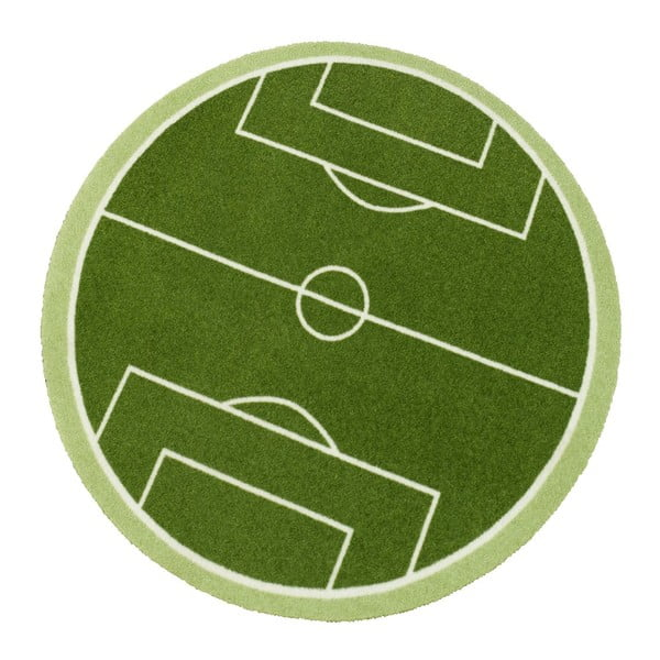 Zielony dywan dziecięcy Zala Living Football Field, ⌀100cm
