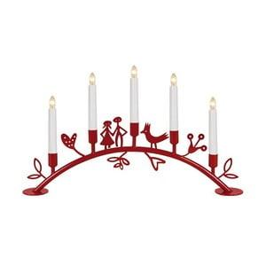 Świecznik LED Dena, czerwony