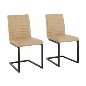Zestaw 2 beżowych krzeseł Støraa Sandra