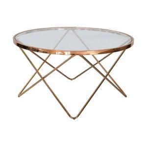 Szklany stolik RGE Melissa, Ø 85 cm