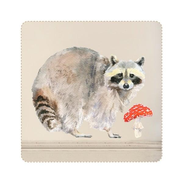 Naklejka wielokrotnego użytku Raccoon, 40x30 cm