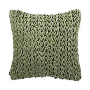 Zielona poduszka ZicZac Waves, 45x45 cm