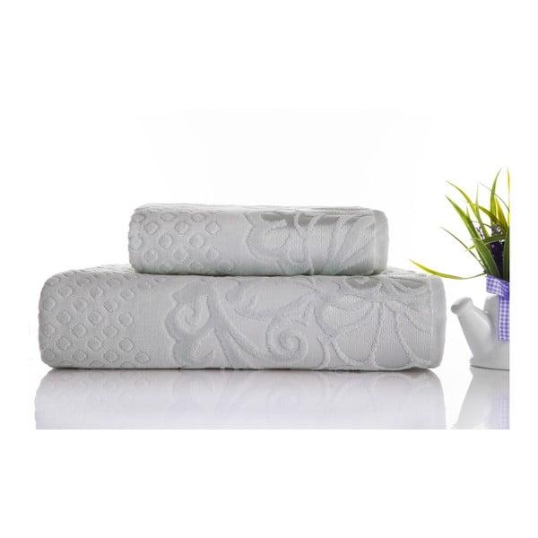 Zestaw 2 ręczników Kumsal Water Green, 50x90 cm i 70x140 cm