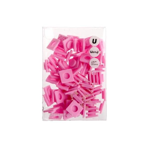 Zestaw 80 dużych pikseli, różowy
