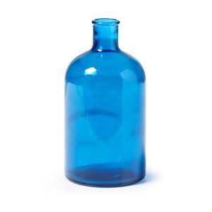 Niebieski wazon ze szkła La Forma Semplice, wysokość 22 cm