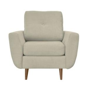 Kremowy fotel z jasnymi nogami Mazzini Sofas Flower