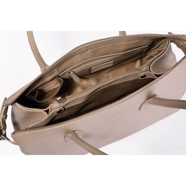 Beżowa torebka skórzana Valentini 427