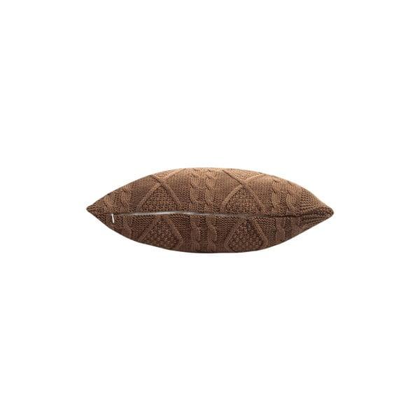 Pleciona poszewka na poduszkę Kosem Brown, 43x43 cm