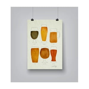 Plakat Americanflat Beer Collection, 30x42 cm
