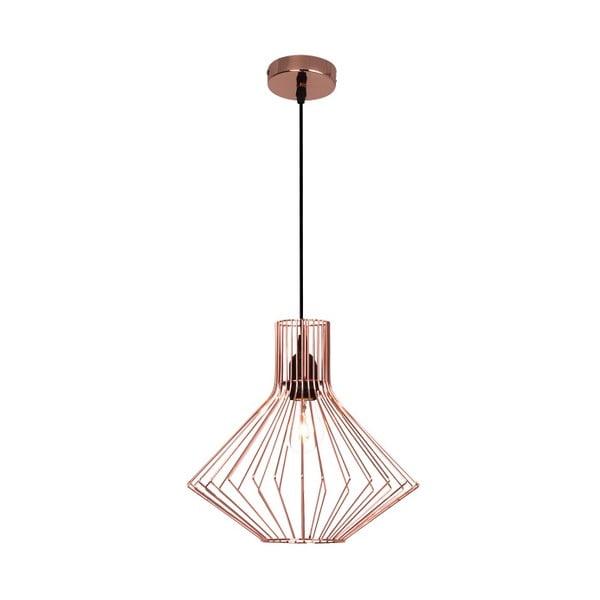 Miedziana lampa wisząca Flavia