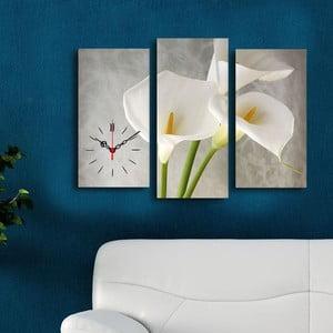 Obraz z zegarem Kwiaty