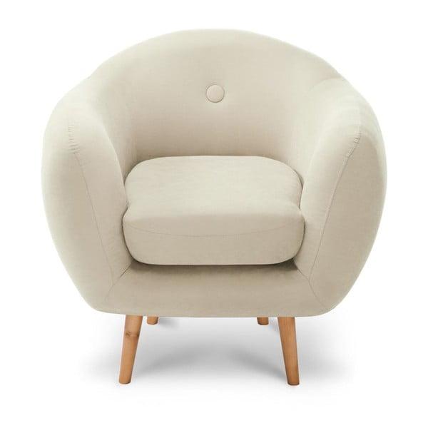 Kremowy fotel Stella