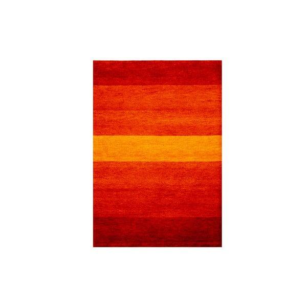 Dywan wełniany Baku Stripe Red, 170x240 cm