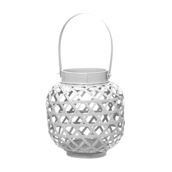 Lampion bambusowy Web White