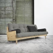 Sofa rozkładana Karup Indie Natural/Granite Grey/Dark Grey