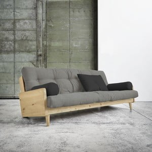 Sofa rozkładana Karup Indie Natural/Granite Grey/Dark Grey