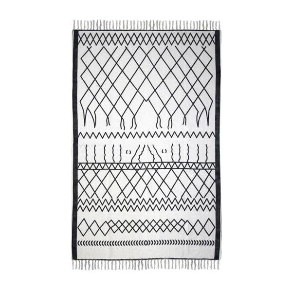 Czarno-biały bawełniany dywan HSM collection Colorful Living Garrio, 60x90 cm