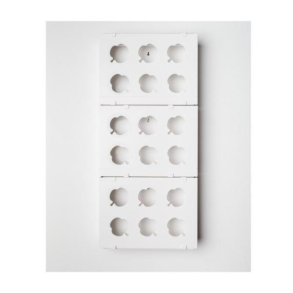 Pionowa doniczka HOH! Trio Bianco, 38x83 cm