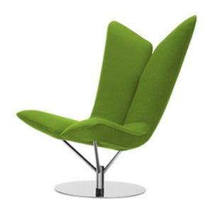 Zielony fotel Softline Angel Felt Melange Green