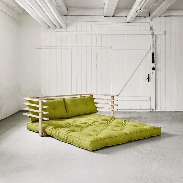 Rozkładana sofa dwuosobowa Karup Funk Natural/Pistacie